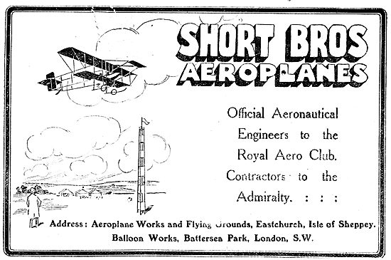 Short Brothers Aeroplanes: Flying Grounds Eastchurch