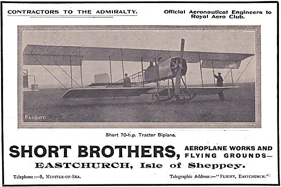 Short Brothers Short 70hp Tractor Biplane