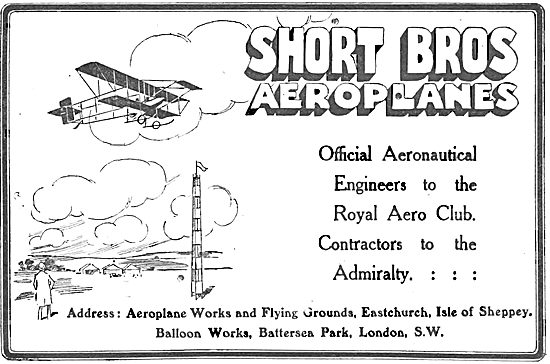 Short Brothers Aeroplanes: Eastchurch, Isle Of Sheppey