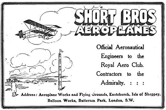 Short Brothers Aeronautical Engineers To The Royal Aero Club