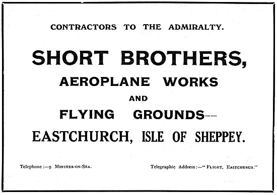 Short Brothers Aeroplanes & Flying Grounds Eastchurch