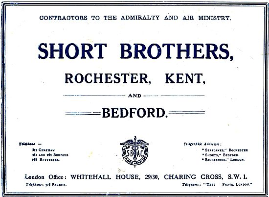 Short Brothers Aircraft - Rochester, Kent