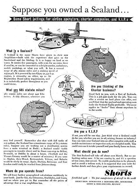 Shorts Flying Boats. Sealand