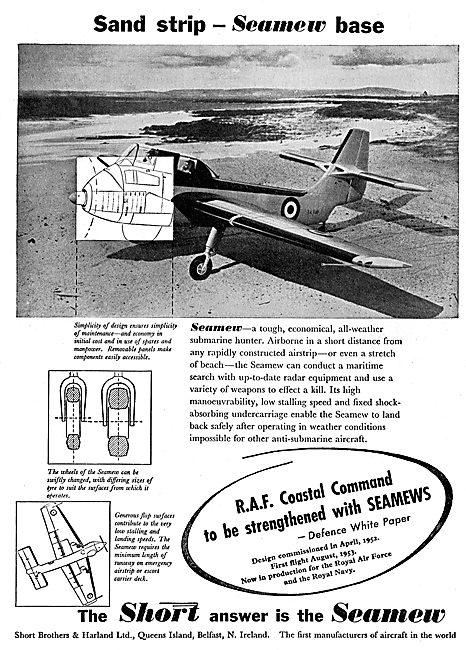 Short Seamew All Weather Submarine Hunter Aircraft