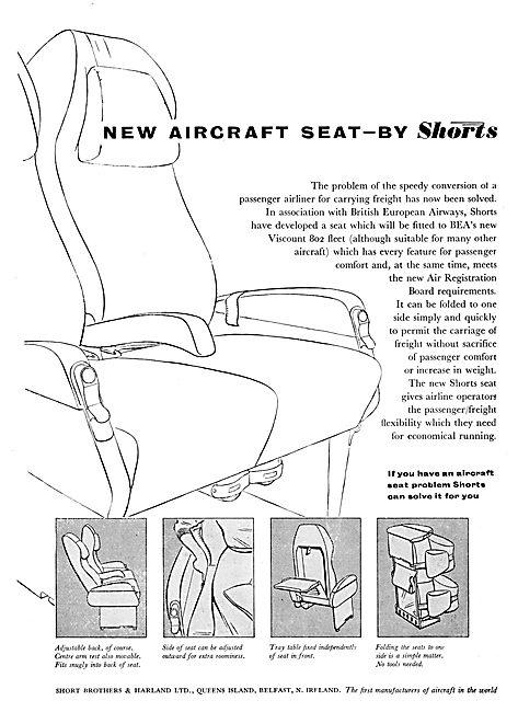 Short Brothers Aircraft Seating
