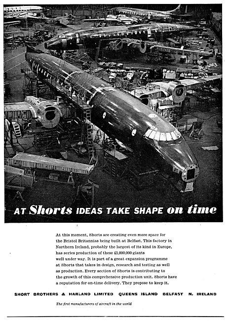 Short Brothers & Harland Aircraft  - Britannia Construction