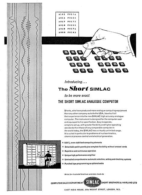 Short Simlac Analogue Computor