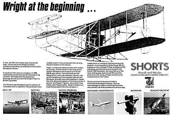 Shorts Aircraft & Missiles 1978