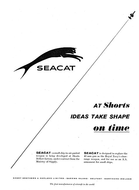 Short Seacat Ship-To-Air Guided Weapon