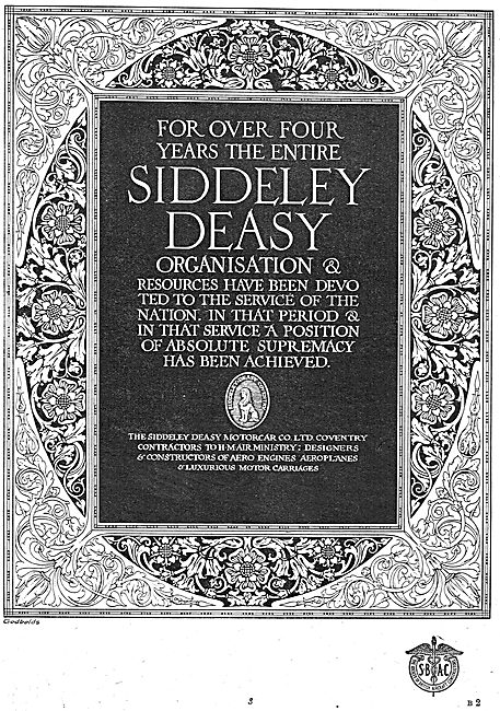 Siddeley-Deasy  Aircraft & Engines