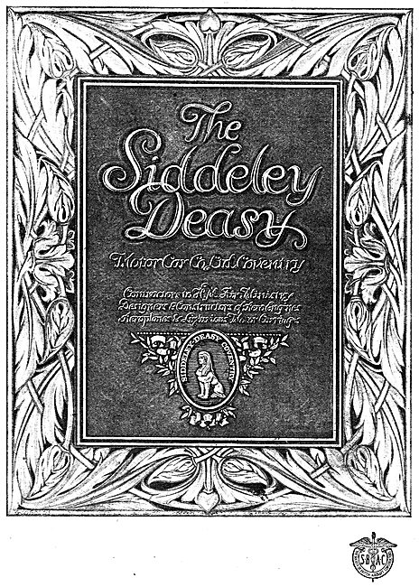 The Siddeley-Deasy Motor Car Co Coventry. Aircraft & Aero-Engines