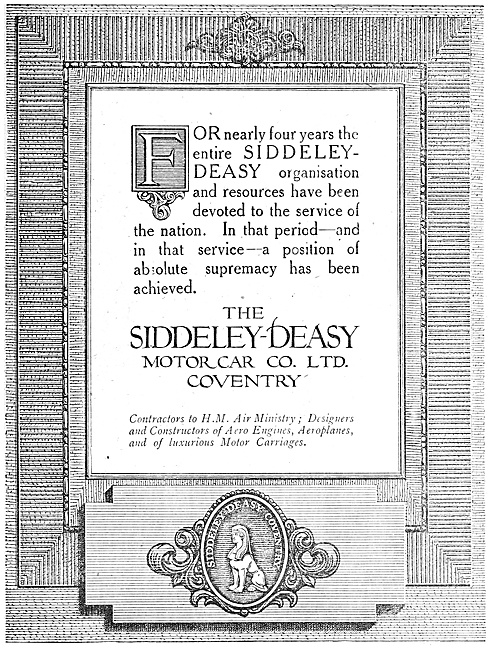 Siddeley-Deasy Aero Engines & Aircraft