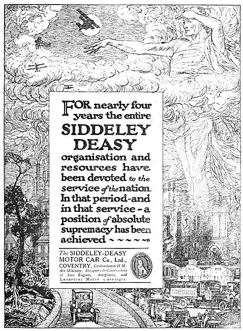 Siddeley-Deasy Aero Engines & Aircraft 1918 Advert