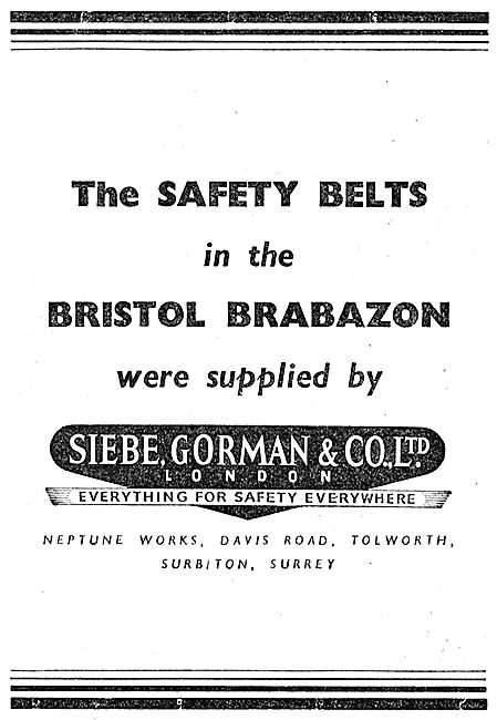 Siebe Gorman Aircraft Safety Belts 1949
