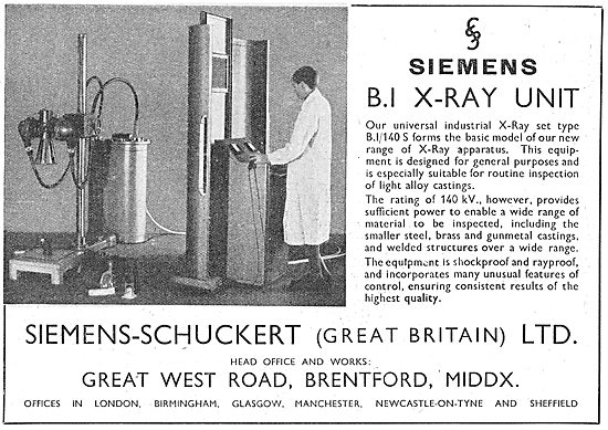 Siemens-Schuckert (Great Britain) Industrial X-Ray Equipment