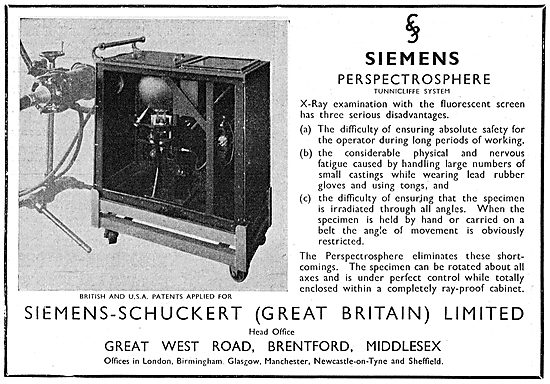 Siemens-Schuckert  Perspectrosphere Tunnicliffe System