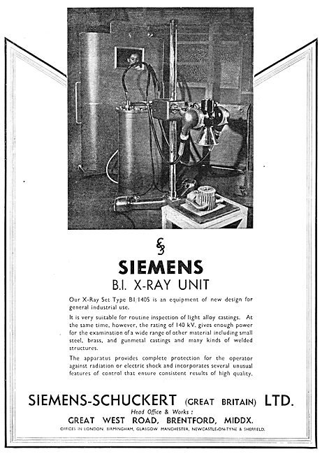 Siemens-Schuckert Industrial  X-Ray Unit