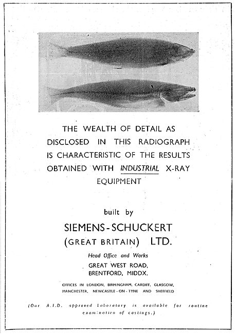 Siemens-Schuckert (Great Britain) Industrial X-Ray Equipment