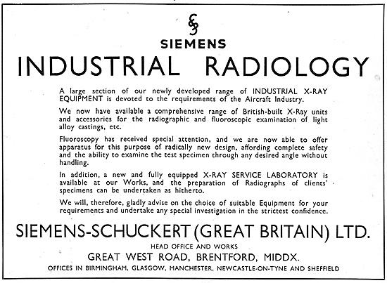 Siemens-Schuckert (Great Britain) Industrial Radiology