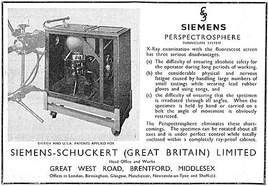 Siemens-Schuckert Radiology Perspectrosphere Tunnicliffe System