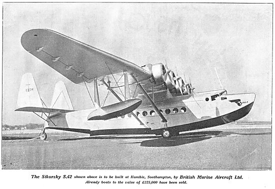 Sikorsky S42 Flying Boat: British Marine Aircraft Hamble