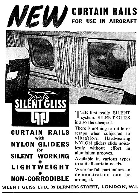 Silent Gliss Aircraft Cabin Curtain Rails
