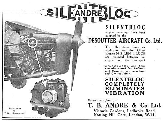 T.B.Andre & Co - Silentbloc Anti Vibration Mountings For Aircraft