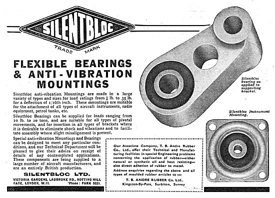 Silentbloc Flexible Bearings & Anti Vibration Mountings