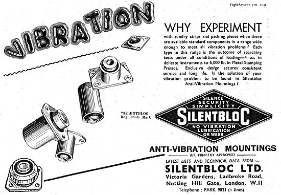 Silentbloc Anti-Vibration Mountings For Aircraft