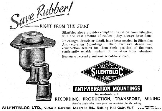 Silentbloc  - Silentbloc Anti Vibration Mountings For Aircraft