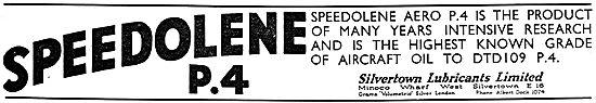 Silvertown Speedolene P4 Aero Engine Oil
