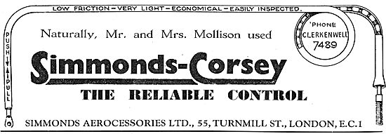 Simmonds Corsey Controls Used By The Mollisons