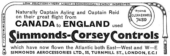 Simmonds-Corsey Aircraft Controls - Ayling Reid Canada Flight