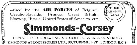 Simmonds-Corsey Aircraft Controls In RAF Service