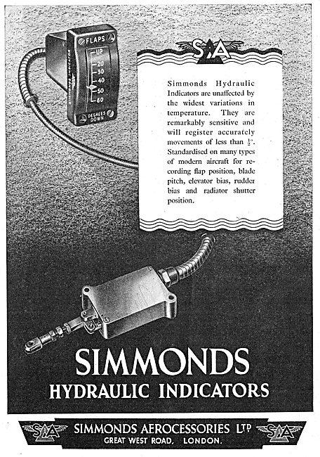 Simmonds Aerocessories : Hydraulic Indicators