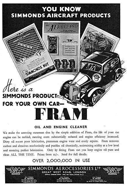 Simmonds Aerocessories : FRAM Filters