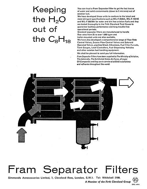 Simmonds FRAM Fuel/Water Separators