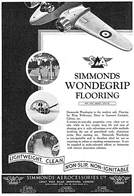 Simmonds Aerocessories Wondegrip Flooring