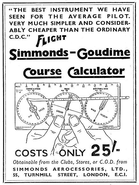 Simmonds-Goudime Course Calculator