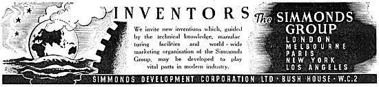 Simmonds Development Corporation. Finance For Inventors