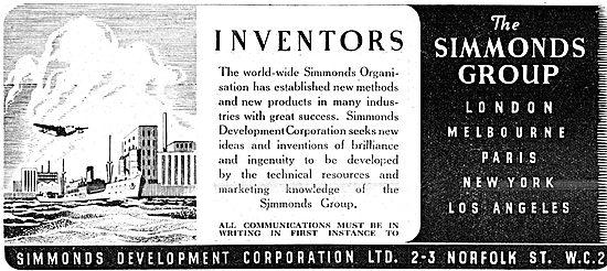 Simmonds Development Corporation. Facilities For Inventors