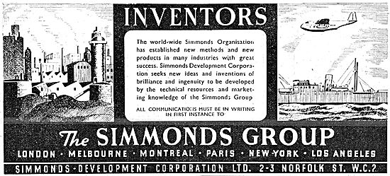 The Simmonds Group Development Facilities For Inventors 1943
