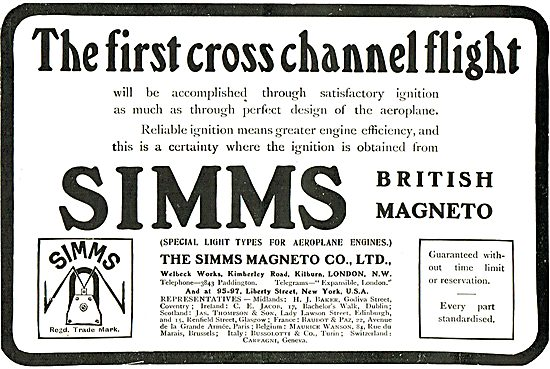 Simms Magneto's For Aeroplane Engines