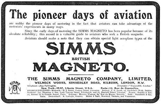 Simms Magnetos Are Here At The Pioneer Days Of Aviation