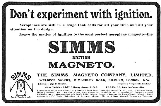 Don`t Experiment With Ignition! Use Simms Aviation Magnetos