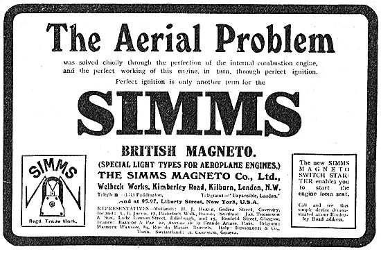 Solve The Aerial Problem By using Simms Magnetos.