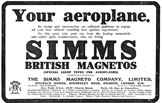 Your Aeroplane Will Benefit From Using Simms Magneto