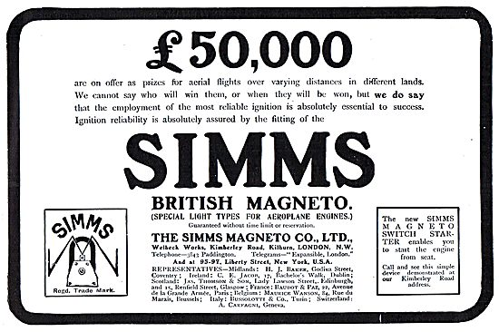 There's £50,000 On Offer As Prizes For Aerial Flights - Use Simms