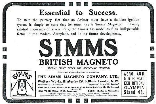 Simms British Magneto. Essential To Success
