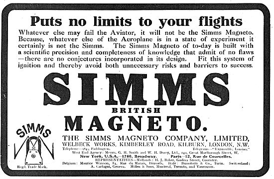 Simms Magneto's Put No Limits On Your Flights.